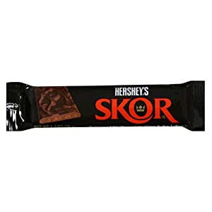 Skor Bar, Milk Chocolate Crisp Butter Toffee, 1.4-Ounce Bars (Pack of
