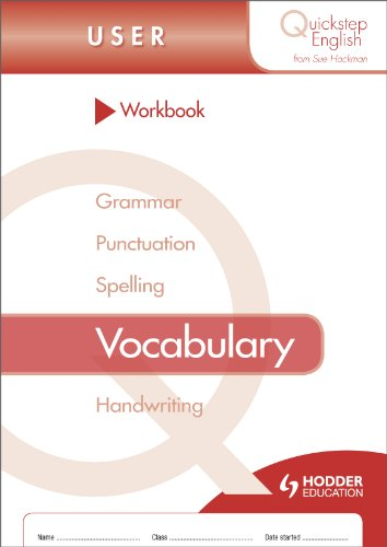 Quickstep English Workbook Vocabulary User Stage (pack of 10) (Quickstep English Workbooks)