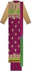 Shine Women's Cotton Unstitched Dress Material (Purple)