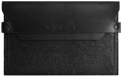 Mujjo MUJJO-SL-019-BK Low-Key Envelope Sleeve iPad Mini/Retina schwarz