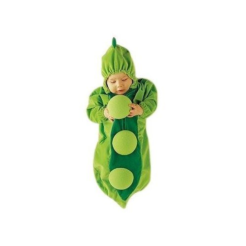Baby pea fancy dress pea in pod Bag 6-12 month /Christmas Gift/fancy dress clothes halloween, stroller pram pushchair suit cozy 6-12 Months