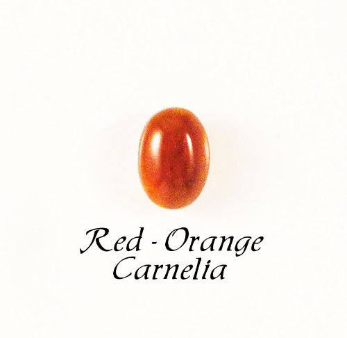 Cabochons - 5x7mm Oval Natural Red-orange Carnelian Cabochon