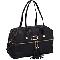 Hot Sale GUESS Cisely Box Satchel (Black)