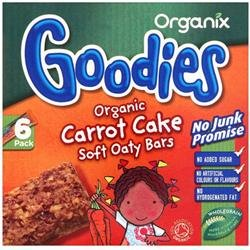 Organix Les plus Carrot Cake avoine Bar 6 x 30 g x 1