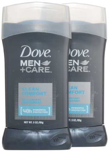Dove Men + Care, Non-Irritant Deodorant, Clean Comfort, 3 Ounce (Pack of 2)
