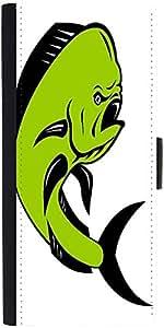 Snoogg Dorado Dolphin Fish Mahi Mahi Jumping Designer Protective Phone Flip Case Cover For Panasonic P55 Novo