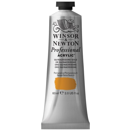Winsor & Newton Professional Acrylic Color Paint, 60ml Tube, Quinacridone Gold (Yellow Gold Paint compare prices)