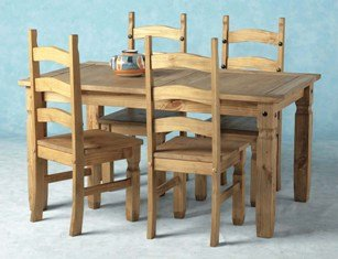 Corona Dining Set 5'/Dining Table and Chairs New