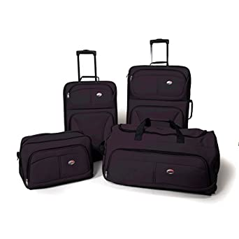 American Tourister Luggage Fieldbrook 4 Piece Luggage Set, Black, One size