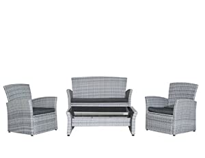 gartenm bel outlet siena garden 722306 lounge set meran weiss grau sessel l 74 x b 73 x h 82. Black Bedroom Furniture Sets. Home Design Ideas