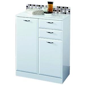 denia bathroom cabinet 2 drawers 3 shelves white high