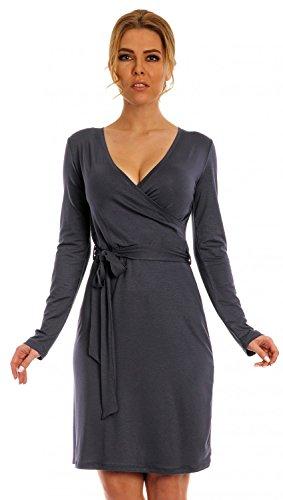 Glamour Empire-Vestido cruzado lazo en la cintura