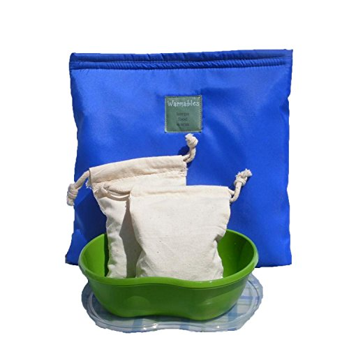 Warmables Cherry-Pit Adult's Lunch Kit - Keeps food warm 4-6 hours! Heat cherry-pit bags, pop into pouch with food container & seal!