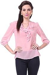 Sassafras Women's Top (SFTOPS4004L_Pink_Large)