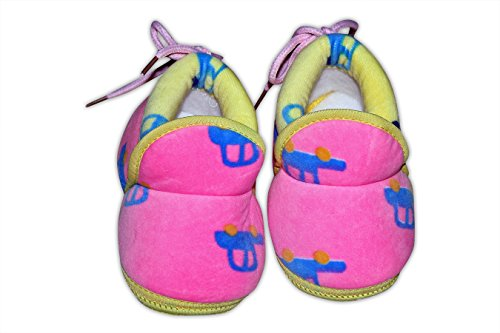 Baby Station Booties Winter Warm Girl Boys Shoes First Walker Training Shoes (0-6 M) (Pink)  available at amazon for Rs.275