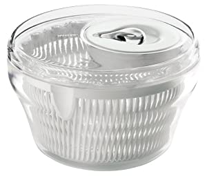 Guzzini Latina 11-Inch D Salad Spinner, Clear by Guzzini
