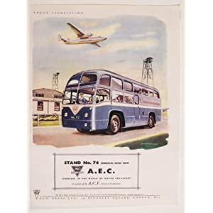 MSC10128 A.E.C BUSES COACHES CLASSIC CARS AND VEHICLES EXTRA LARGE METAL ADVERTISING WALL SIGNS