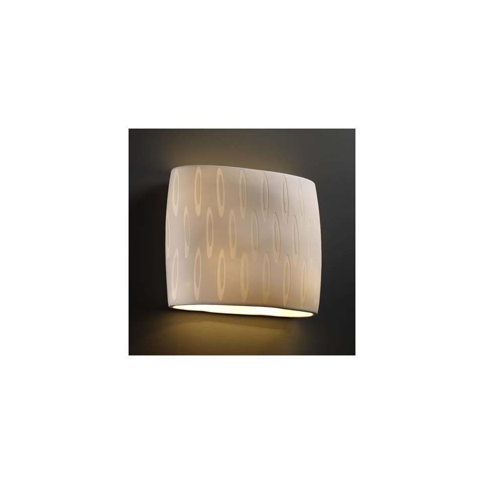 Justice Design Group POR 8855 OVAL Limoges 2 Light Sconces