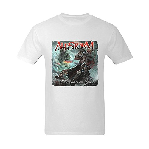 LittleArt Men's Alestorm Back Through Time Cover T-Shirt Small