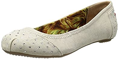 Skechers Bobs With Love Women's Ballerina Flats 34931 Natural 6.5