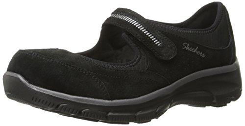 Skechers Women's Easy Going-Super Chill Fashion Sneaker, Black, 9 M US