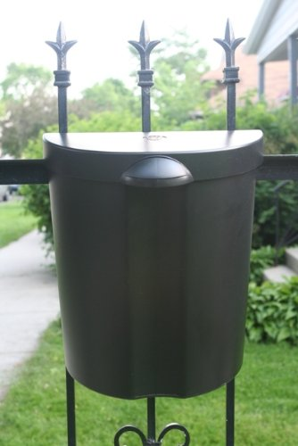 The Glam Can - Black Mounting Outdoor and Indoor Trash Can with lid (Dog Trash Can compare prices)