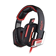 buy Each Professional Game Headphone 7.1 Surround Usb Vibration Gaming Headset Headband Earphone With Microphone Led Light For Pc Gamer