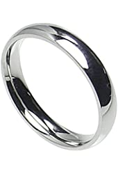 4mm Stainless Steel Comfort Fit Plain Wedding Band Ring Size 4-12; Comes With Free Gift Box