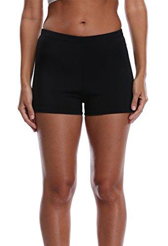 Attraco-Womens-Plus-Size-Tankini-Boyleg-Swim-Bottom-Broad-Swim-Shorts