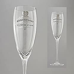Enesco Insignia 25th Anniversary Anniversary Wine Glass
