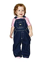 Key Premium Soft Washed Infant Denim Bib Overalls - Sizes 9MO-24MO