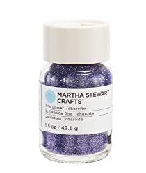 Martha Stewart Crafts Fine Glitter, Charoite, 1-1/2 Ounces.