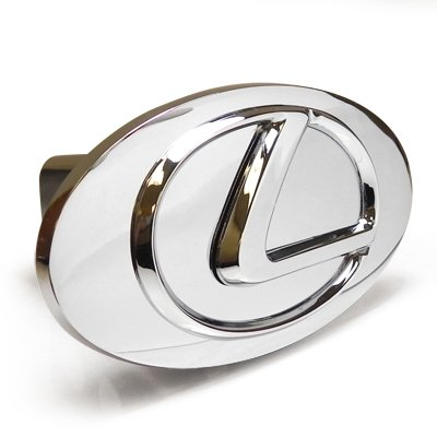 Lexus Chrome Logo Emblem Steel Tow Hitch Cover with Locking Pin (Lexus Tow Hitch Cover compare prices)