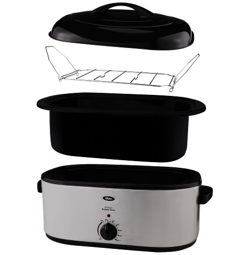Oster 22 Quart Roaster Oven With Self Basting Lid: Oster CKSTRS23-SB 22-Quart Roaster Oven With Self-Basting