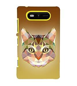Meow Cat 3D Graphics 3D Hard Polycarbonate Designer Back Case Cover for Nokia Lumia 820 :: Microsoft Lumia 820
