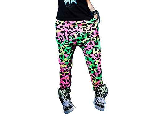 Etiger® Casual Loose Fluorescent Full Length For Women Jazz Hip-Hop Sport Pants front-12469