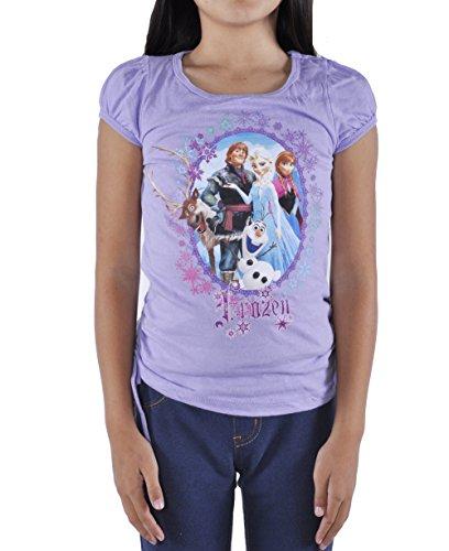 Girls Disney Frozen Princess Elsa Anna Olaf Authentic Shirt 6