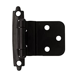 Liberty H0104AC-FB-O2 3/8-Inch Self-Closing Inset Hinge, 2-Pack