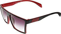 Elijaah Multi-ColouRed Medium UnisexWayfarer Sunglasses 39062_Black_red
