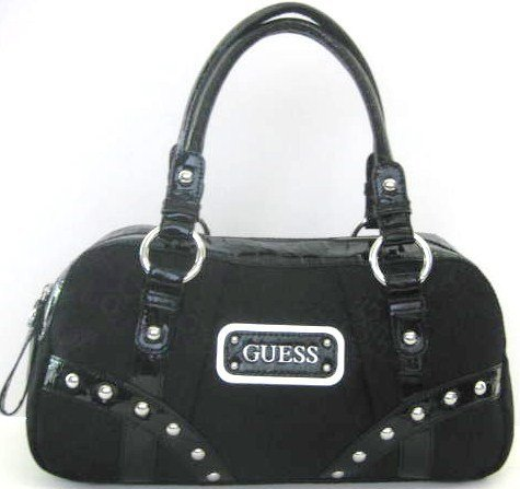 Guess Network Handbag in Coal (GUESS HANDBAGS, PURSES, BAGS)