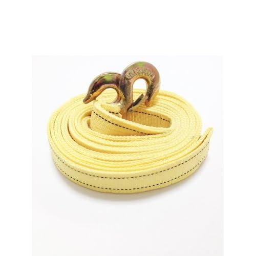 牽引ロープ 5m ナイロン スリング ベルト 両端 フック付き 5t