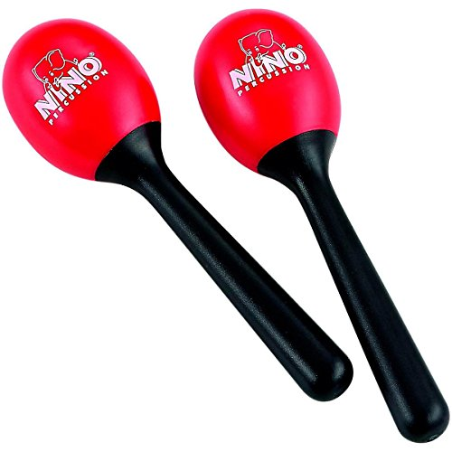 Nino-Percussion-NINO569R-Plastic-Egg-Maracas-Red