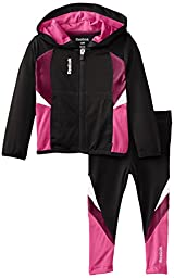Reebok Baby-Girls Infant Colorblock Active Set, Black, 18 Months