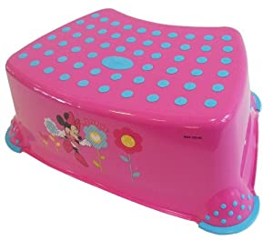 Disney Minnie Mouse Toilet Training Step Stool Pink