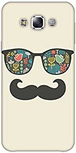 Snoogg Mustache Beach Life Designer Protective Back Case Cover Forsamsung Gal...