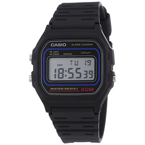 Casio W-59-1VQES Alarm Chronograph Watch