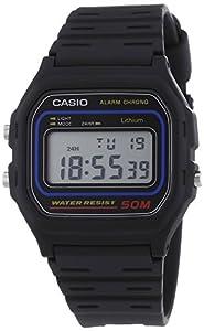 Casio - W-59-1V - Vintage - Montre Mixte - Quartz Digital - Cadran LCD - Bracelet Résine Noir