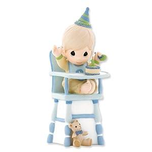 Amazon.com: Precious Moments Boy 1st Birthday in High Chair Figurine