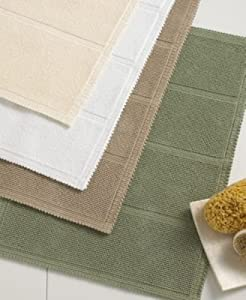 Hotel collection savoy 24 x 40 bath rug mat bathroom light brown kitchen home for Hotel collection bathroom rugs