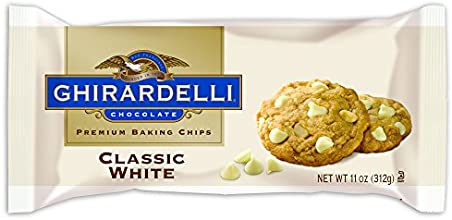 Ghirardelli Baking Chips Classic White 11-Ounce Bags Pack of 6